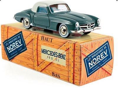 Norev 1:43 Mercedes Benz 190 SL 1956 grijs blauw met licht grijs. Norev Classic