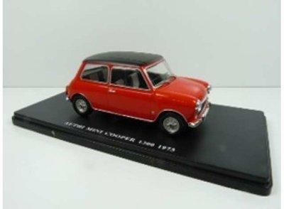 Atlas 1:24 Mini Cooper 1360 rood met zwarte dak 1973