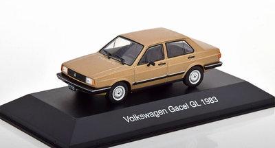 Atlas 1:43 Volkswagen Gacel GL Limousine 1983 bruin, in blisterverpakking