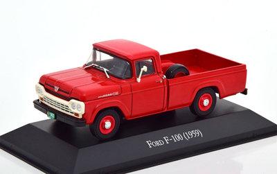 Atlas 1:43 Ford F100 Pickup 1959 rood