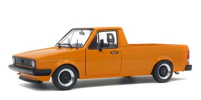 Solido 1:18 Volkswagen Caddy Pickup MK 1 Custom 1982 oranje. Levering februari 2020. Te reserveren
