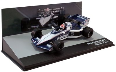 Atlas 1:43 Brabham BMW BT52B no5 Nelson Piquet P1 Europe GP 1983, in vitrine
