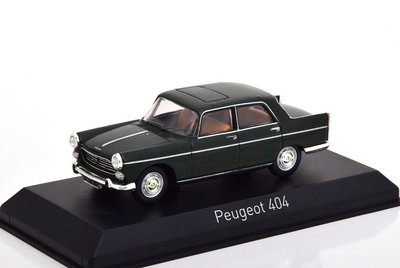 Norev 1:43 Peugeot 404 1965 Antique green