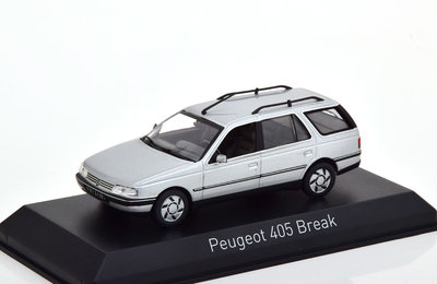 Norev 1:43 Peugeot 405 Break 1991 Quartz grijs