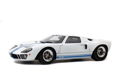 Solido 1:18 FORD USA GT 40 MK1 WIDEBODY 1968 wit blauw