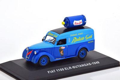 Attlas 1:43 Fiat 1100 ELR Delivery van Butangas 1948 blauw