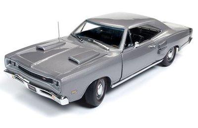 Auto World 1:18 Dodge Coronet RT Hardtop (MCACN) 1969 grijs American Muscle Diecast