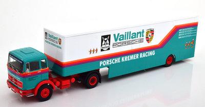 IXO 1:43 Mercedes LPS 1632, Porsche Kremer Racing Renntransporter 1981
