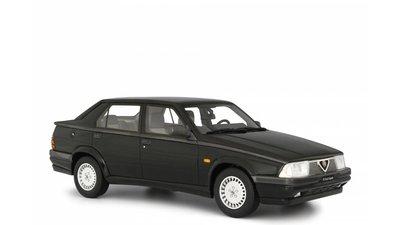 Laudoracing 1:18 Alfa Romeo Alfa 75 2.0 Twin Spark 1987 zwart, oplage 250 stuks. Resin Model