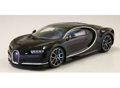 Kyosho 1:18 Bugatti Chiron 2015 zwart Diecast Ousia sealed body serie