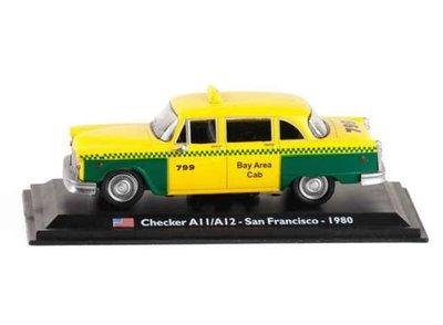 Atlas 1:43 Checker A11/ A12 1980 San Francisco Taxi in blisterverpakking. Taxi Collection