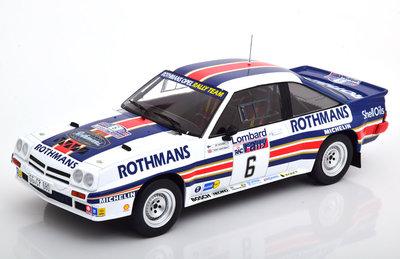IXO 1:18 Opel Manta 400 No6 Rothmans Opel Rallye RAC, A Vatanen /T Harryman