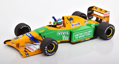 Minichamps 1:18 Benetton Ford B192 3rd place GT Germany M. Schumacher 1992, oplage 300 stuks