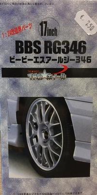 Fujimi 1:24 17inch BBS RG346 Wheels & Tires bouwdoos