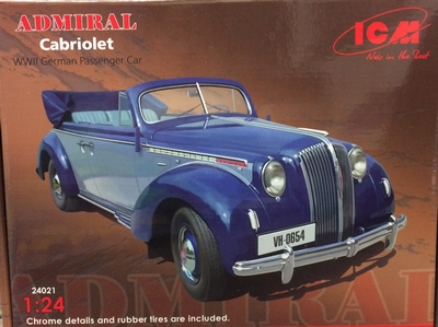 ICM 1:24 Opel Admiral cabriolet plastic modelkit