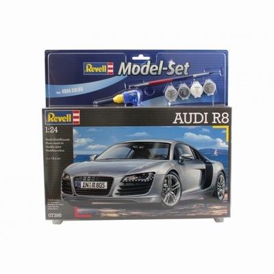 Revell 1:24 Audi R8 bouwdoos met lijm verf en penceel