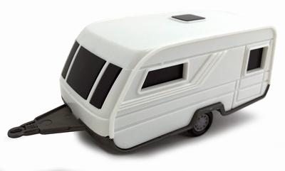 Cararama 1:43 Caravan Multipurpose 1990 wit