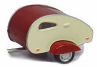 Cararama 1:43 Caravan wit rood