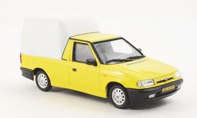 Abrex 1:43 Skoda Felicia pick-up geel met wit 1996