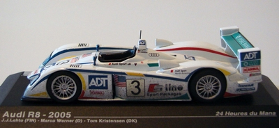 Atlas 1:43 Audi R8 LM 2005 No 3 Tom wit