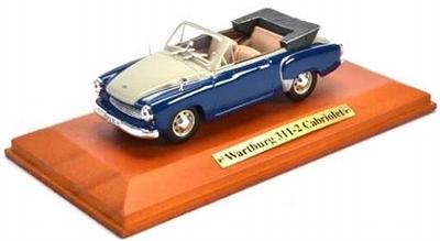 Atlas 1:43 Wartburg 311-2 Cabriolet 1956 blauw