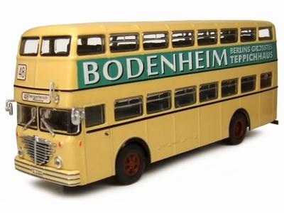 Atlas 1:72 Bussing D 2 U 1951 BODENHEIM dubbel dek bus creme