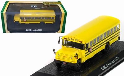 Atlas 1:72 GMC B Series Schoolbus 1979 geel