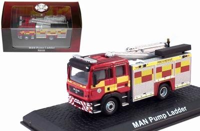 Atlas 1:72 MAN F16 Pump Ladder Fire Truck