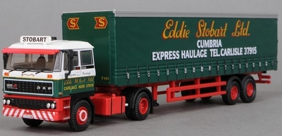 Atlas 1:76 Daf 2800 Curtainside Eddie Stobart Cumbria Expres