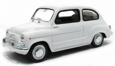 Auto Vintage De Luxe Collectie 1:24 Fiat 600 D 1960 wit