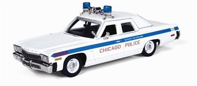 Auto World 1:43 Dodge Monaco Chicago Police 1974 wit blauw