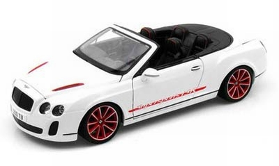 Bburago 1:18 Bentley Continental supersports convertible wit
