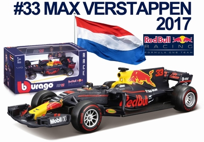 Bburago 1:43 Red Bull Racing RB13 #33 Max Verstappen 2017