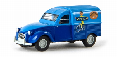 Brekina 1:87 Citroen 2CV Velosolex (F) bestelauto blauw