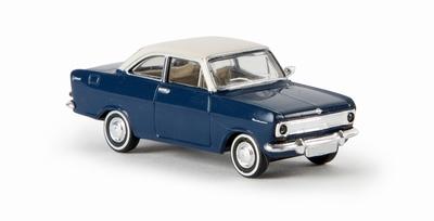 Brekina 1:87 Opel Kadett A Coupe blauw met witte dak