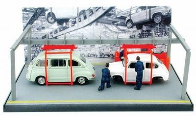 Brumm 1:43 Fiat 600 + 600 Multipla catena di montaggio