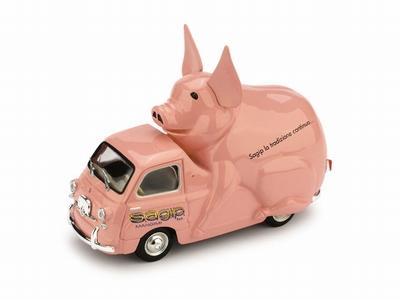 Brumm 1:43 Fiat 600 Mutipla Piggy rose