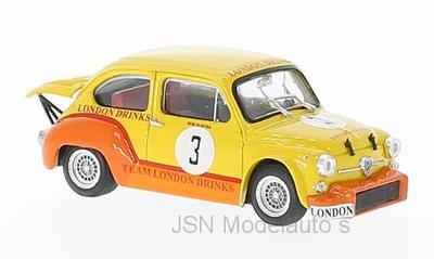 Brumm 1:43 Fiat Abarth 1000 No 3 R Dijkstra Team Zandvoord