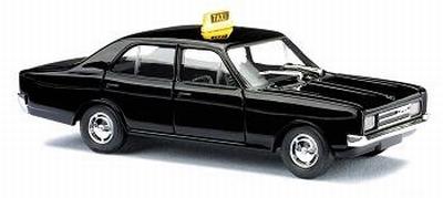 Busch 1:87 Opel Rekord C Taxi 1966 zwart