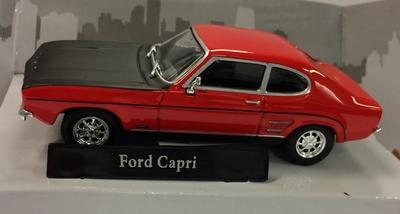 Cararama 1:43 Ford Capri MKI rood zwart