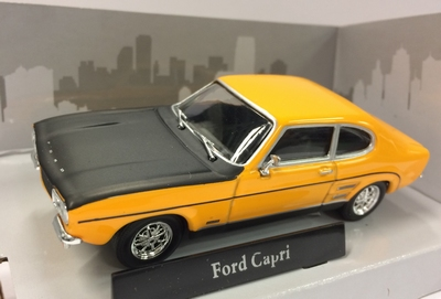 Cararama 1:43 Ford Capri RS 1970 geel zwart
