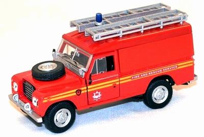 Cararama 1:43 Land Rover Serie III Brandweer