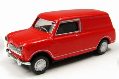 Cararama 1:72 Mini Van Bestel rood