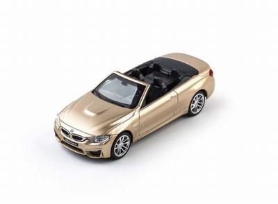 CMC Toy 1:43 BMW M4 cabrio 2017 goud