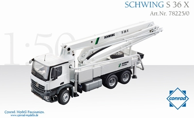 Conrad 1:50 Schwing Betonpumpe S 36X on Mercedes Arocs 3-as