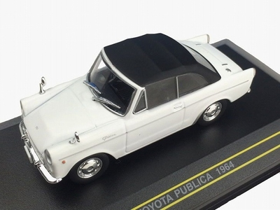 First43 1:43 Toyota Publica 1964 Cabrio wit gesloten cabrio
