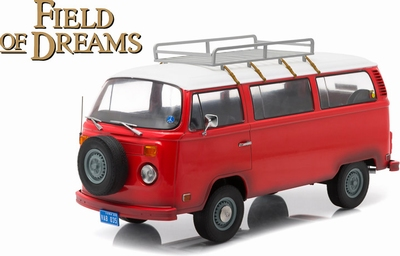 Greenlight 1:18 Volkswagen T2b Field of Dreams rood