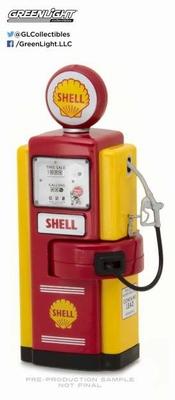 Greenlight 1:18 Wayne 100-a Shell Oil Gas Pump