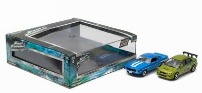 Greenlight 1:43 Chevrolet Yenko Camaro en Mitsubishi Lancer