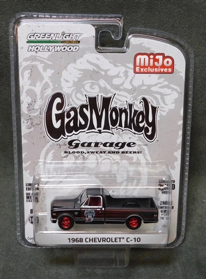 Greenlight 1:64 Chevrolet C-10 Pickup 1968 Gas Monkey garage